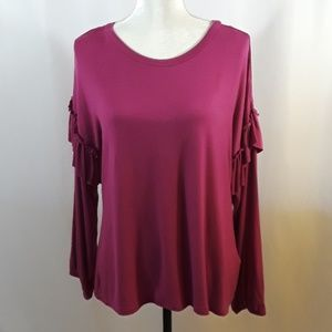 Ultra Flirt Long Sleeve With Ruffle